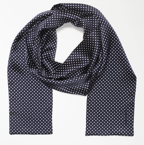 Eddie Kramer Signature Collection ~ Dots On Blue Embroidered Scarf