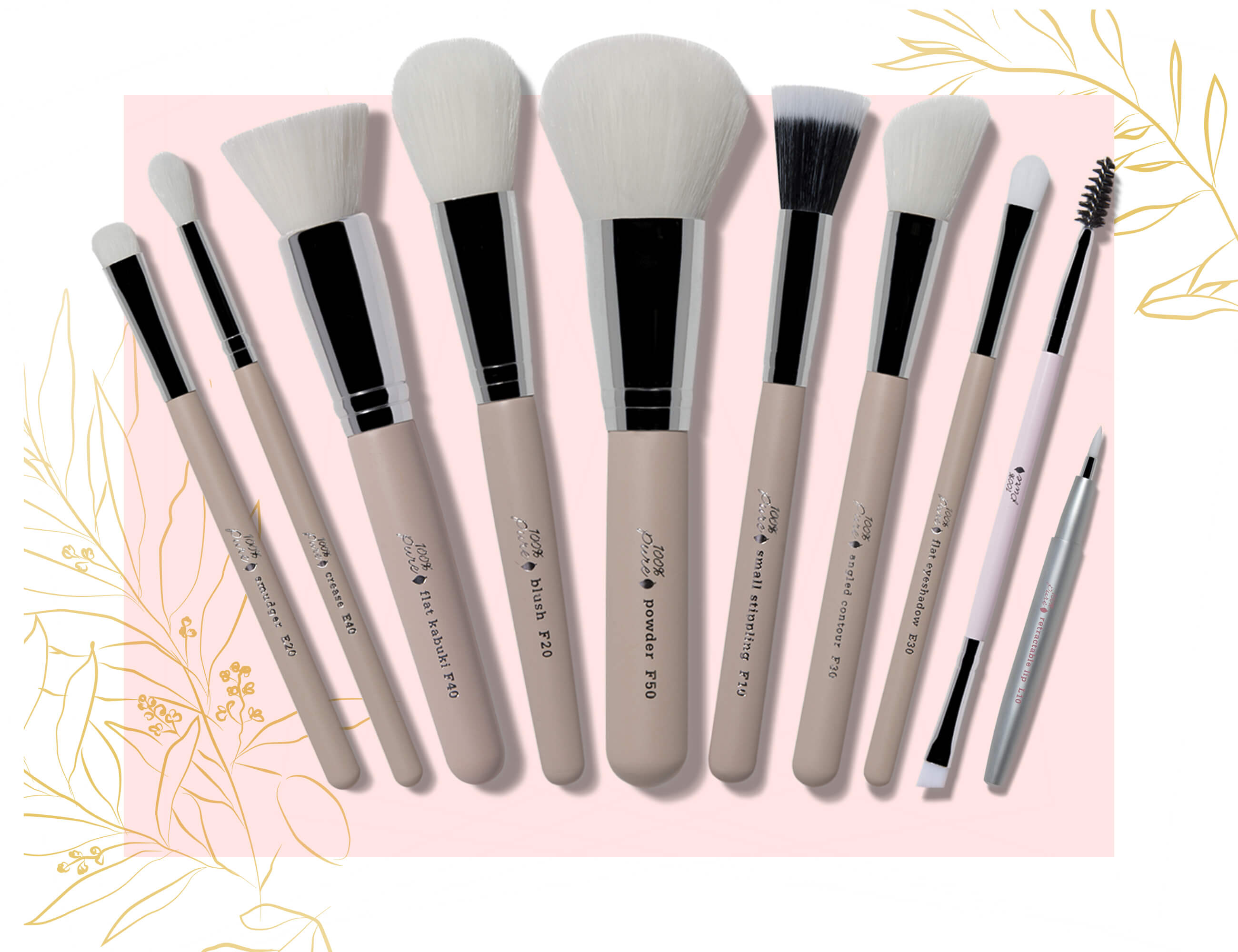 100% PURE Pure Luxe Brush Gift Set