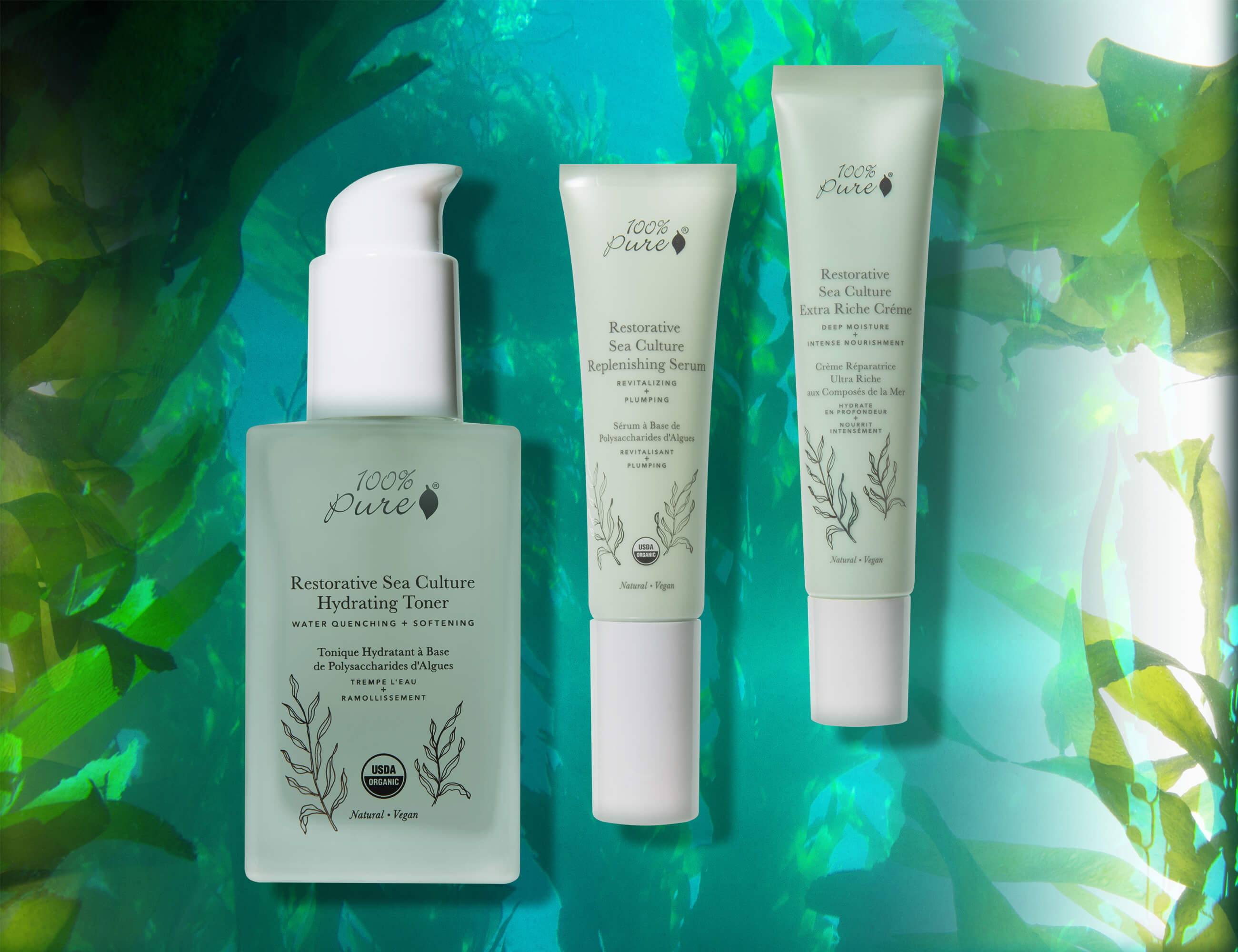 100% PURE Restorative Sea Culture Products