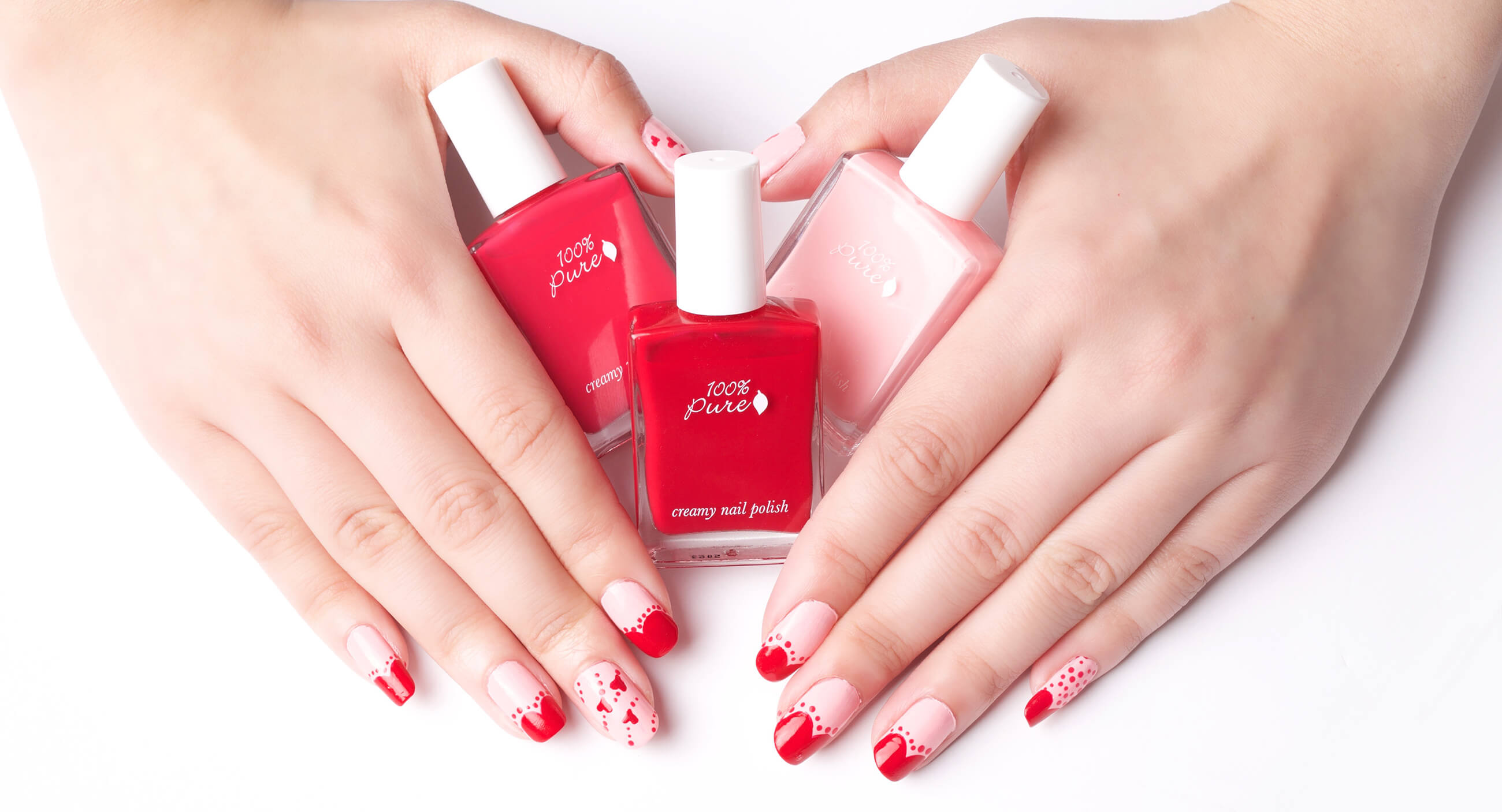 100% PURE creamy nail polish products