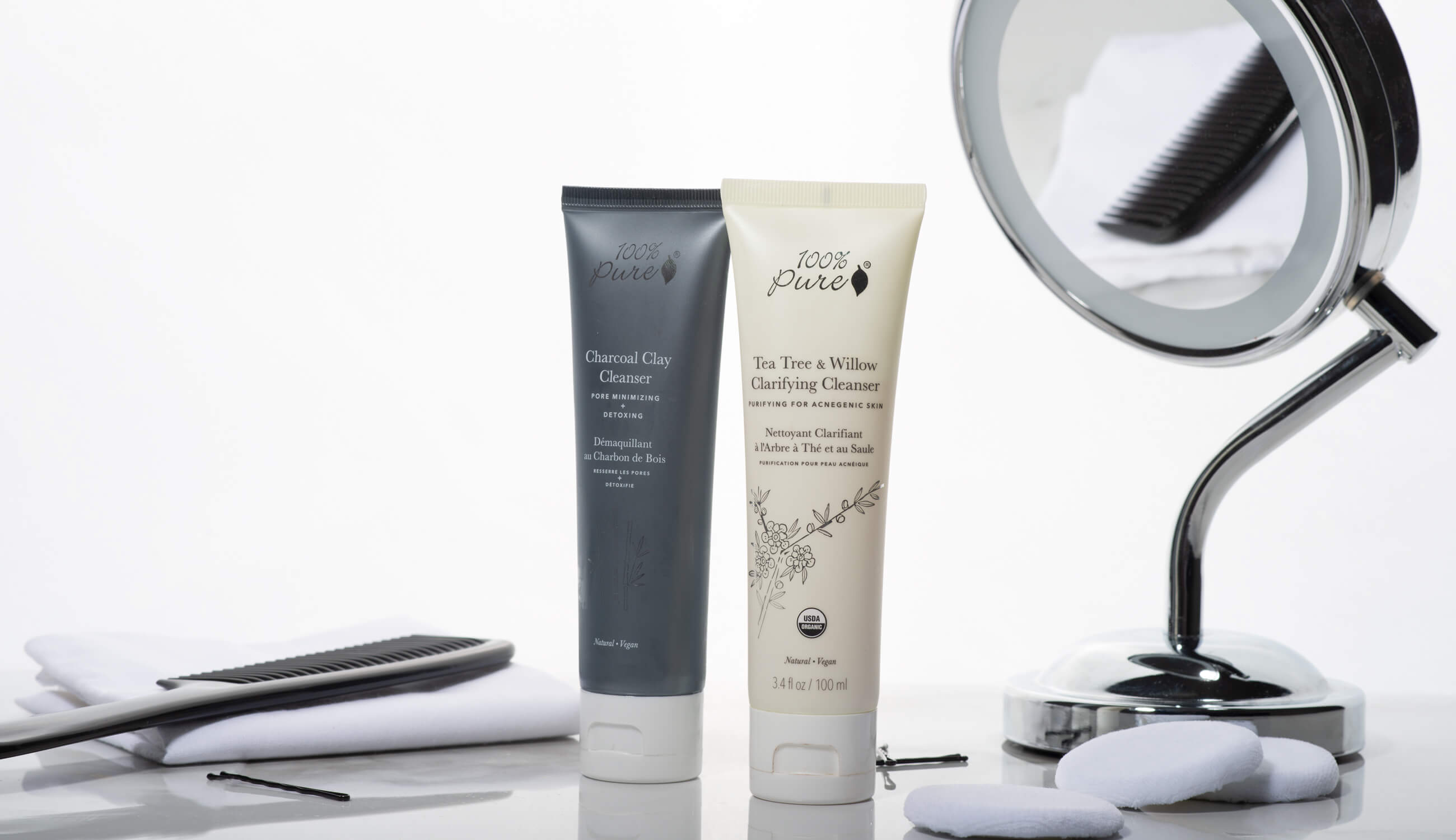 100% Pure acne cleansing products