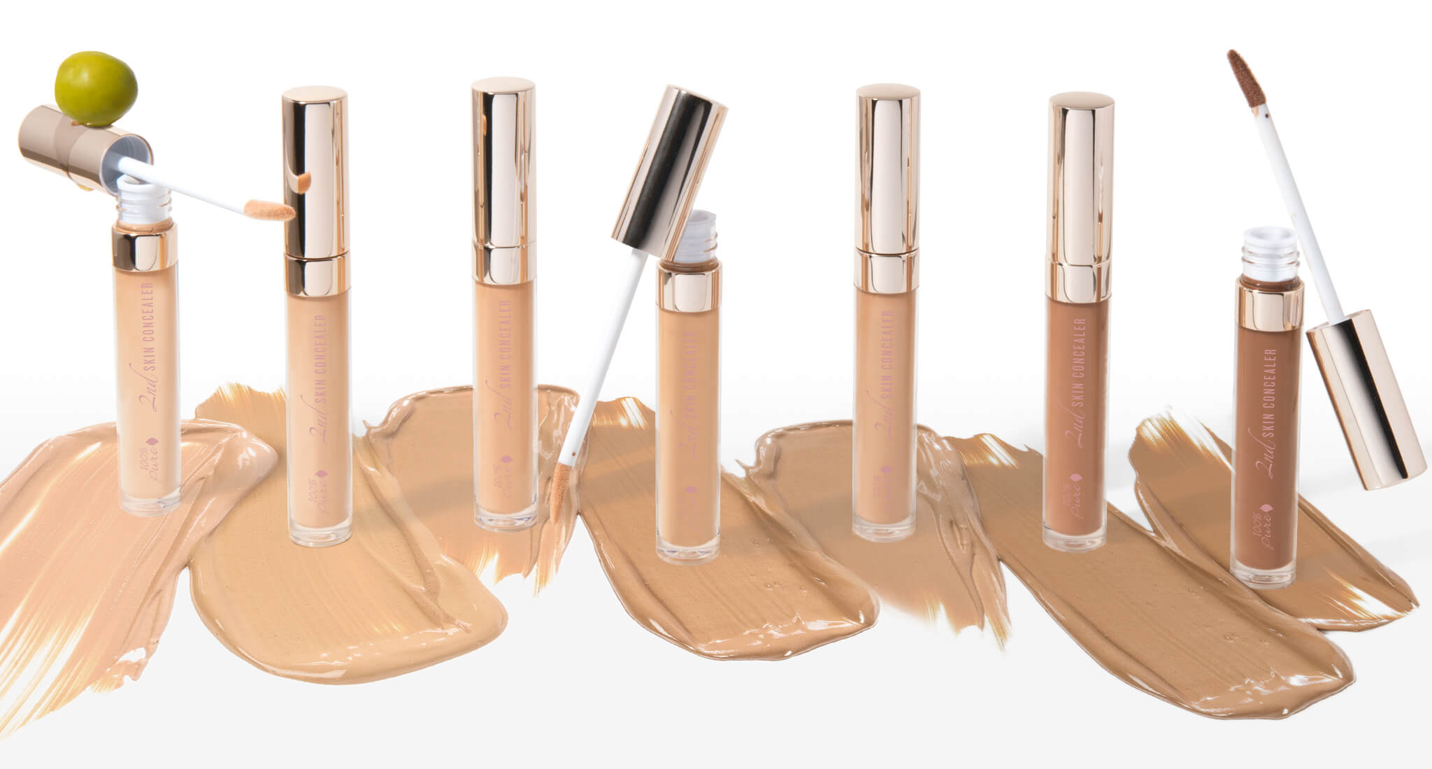 100% PURE 2nd Skin Concealer Lineup