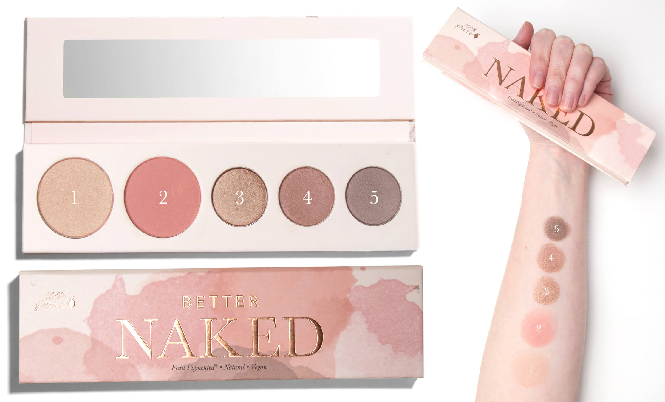100% PURE Better Naked Palette 2 Swatch