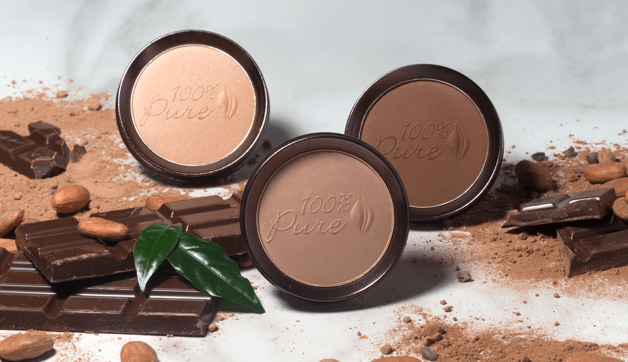 100% PURE Cocoa Bronzers 3 shades
