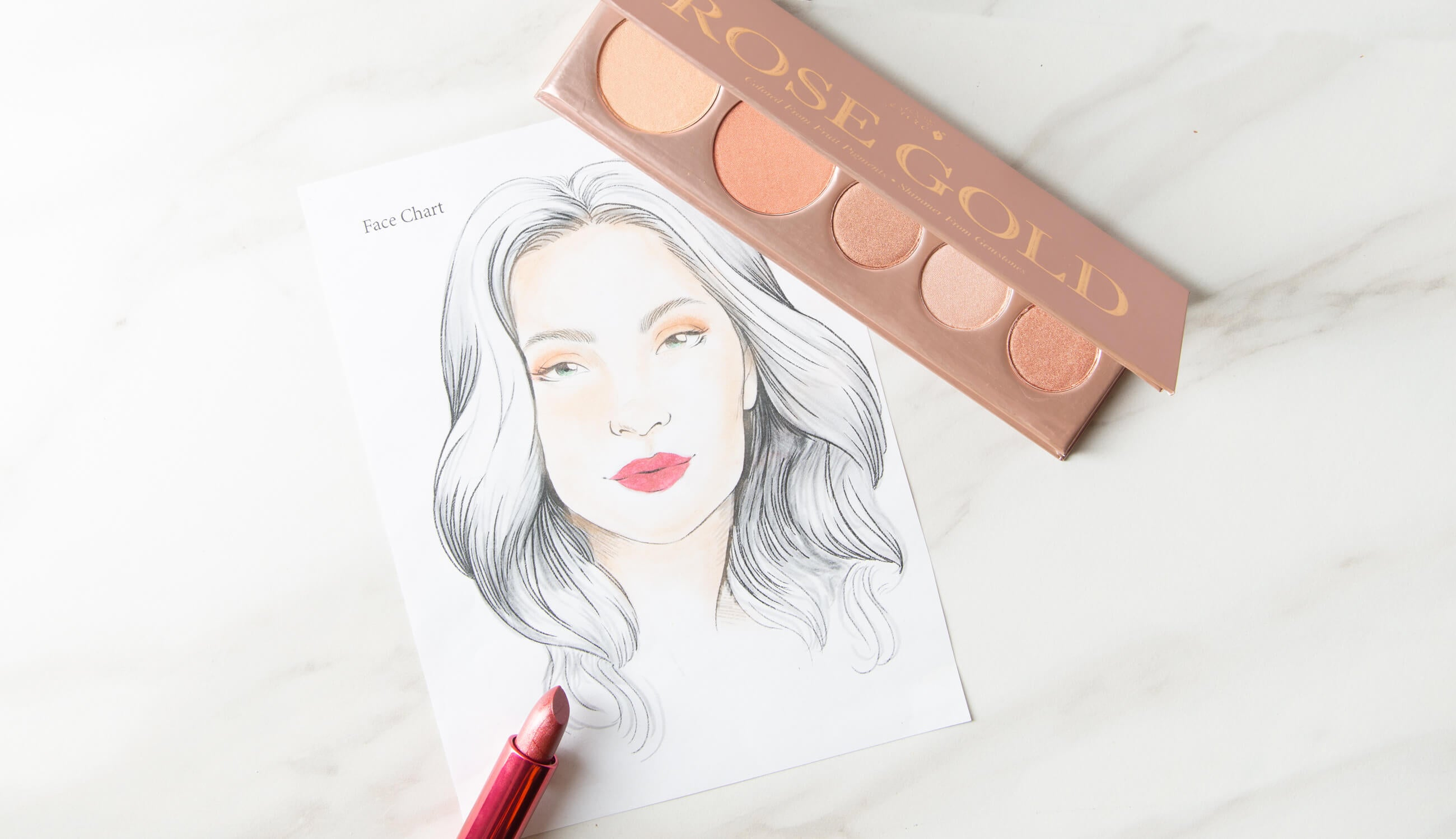Holiday Makeup Looks with Rose Gold Palette