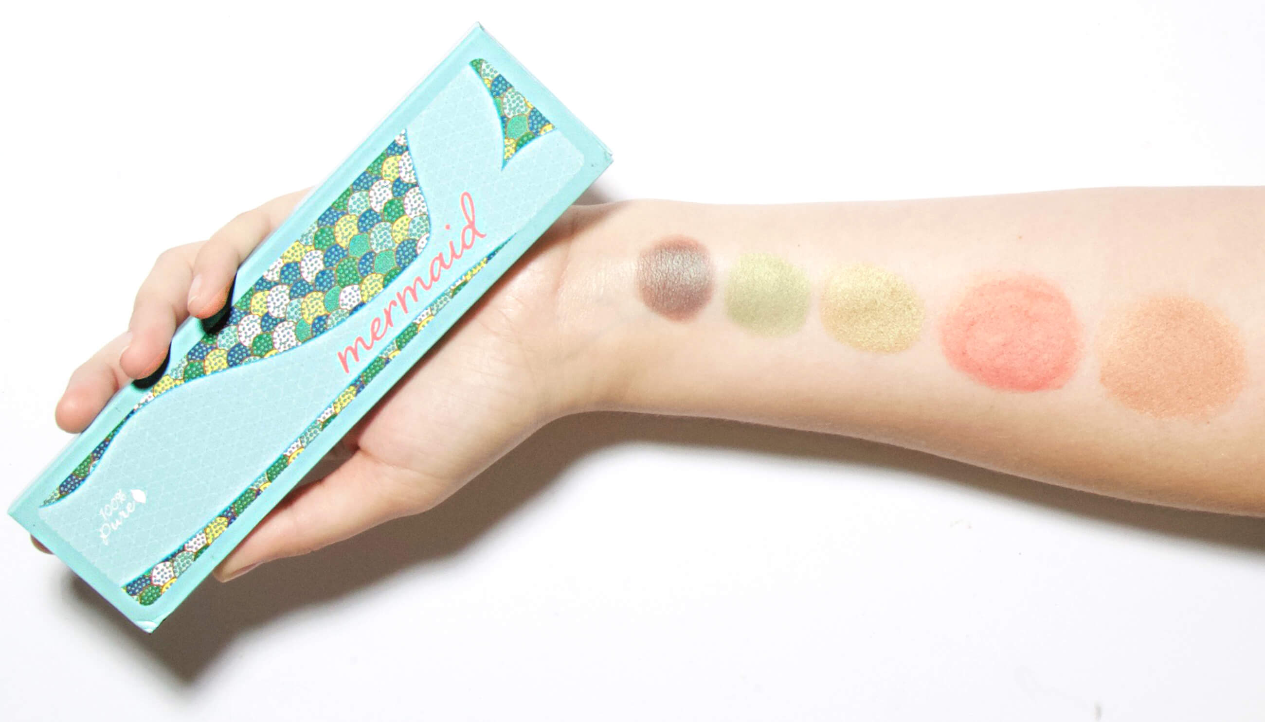 Mermaid Palette arm swatches