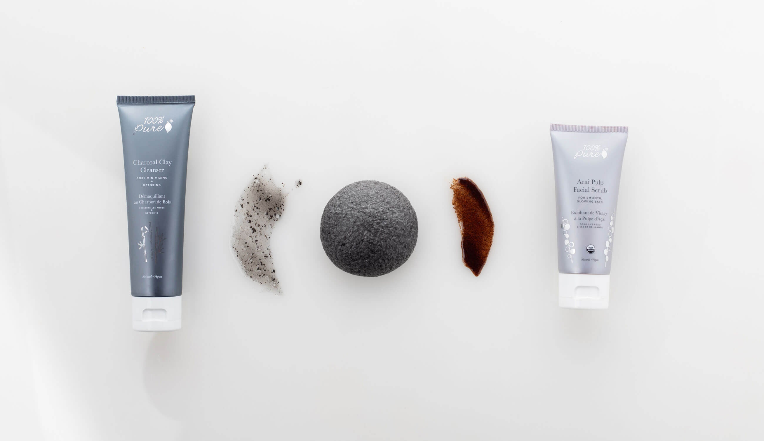 Swatches, Product and Konjac Sponge