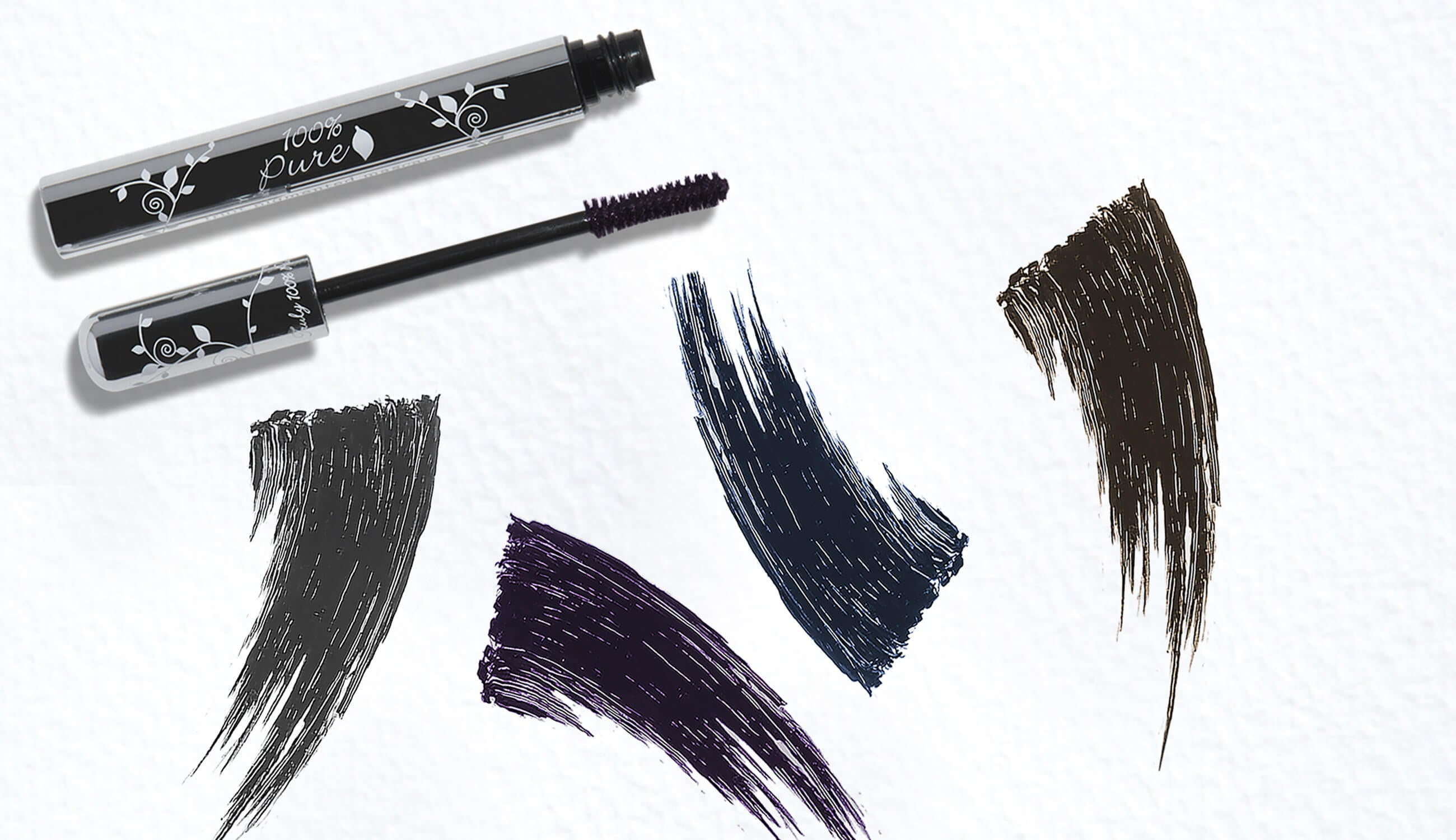100% PURE Ultra Lengthening Mascara Swatches
