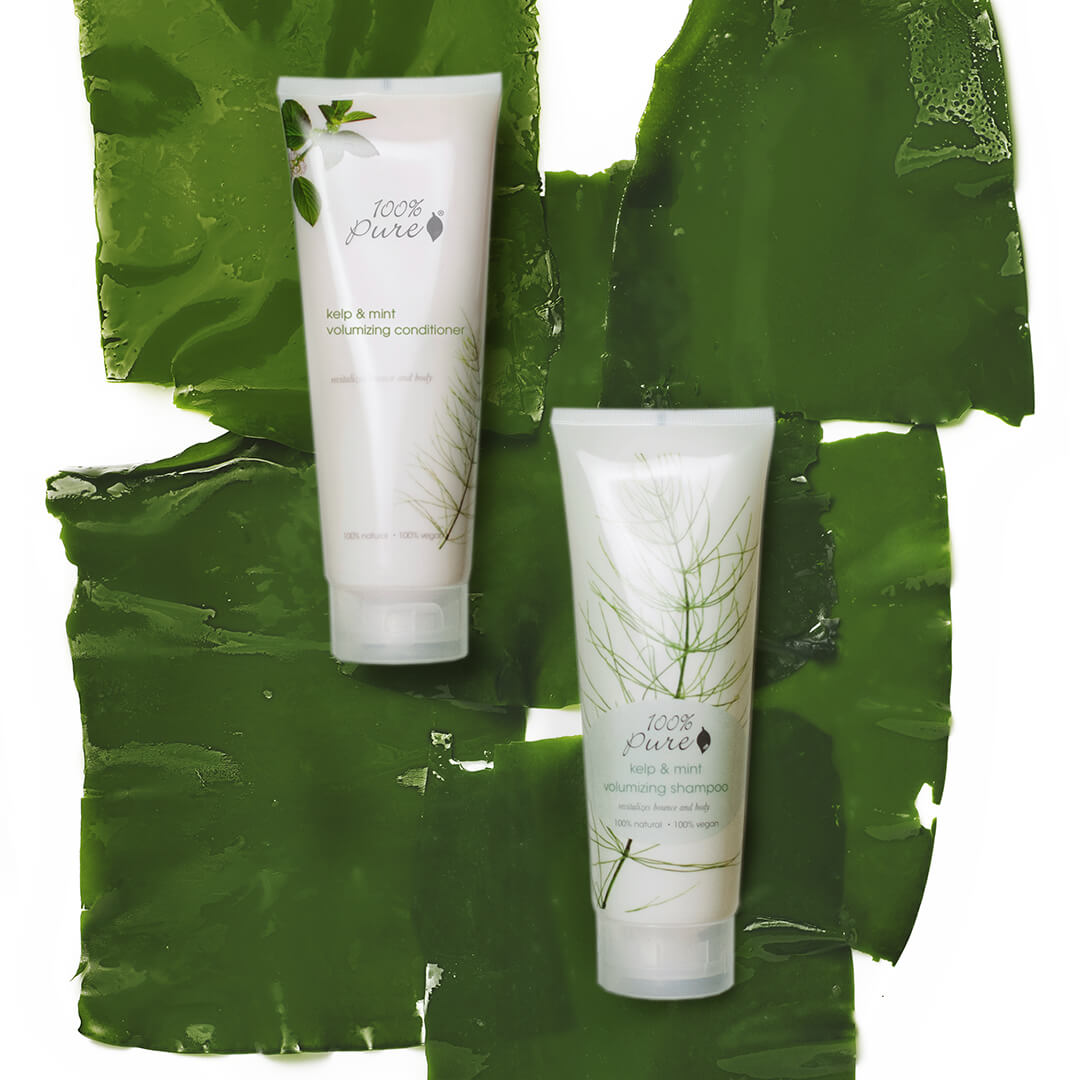 100% PURE Kelp and Mint Volumizing Shampoo and Conditioner