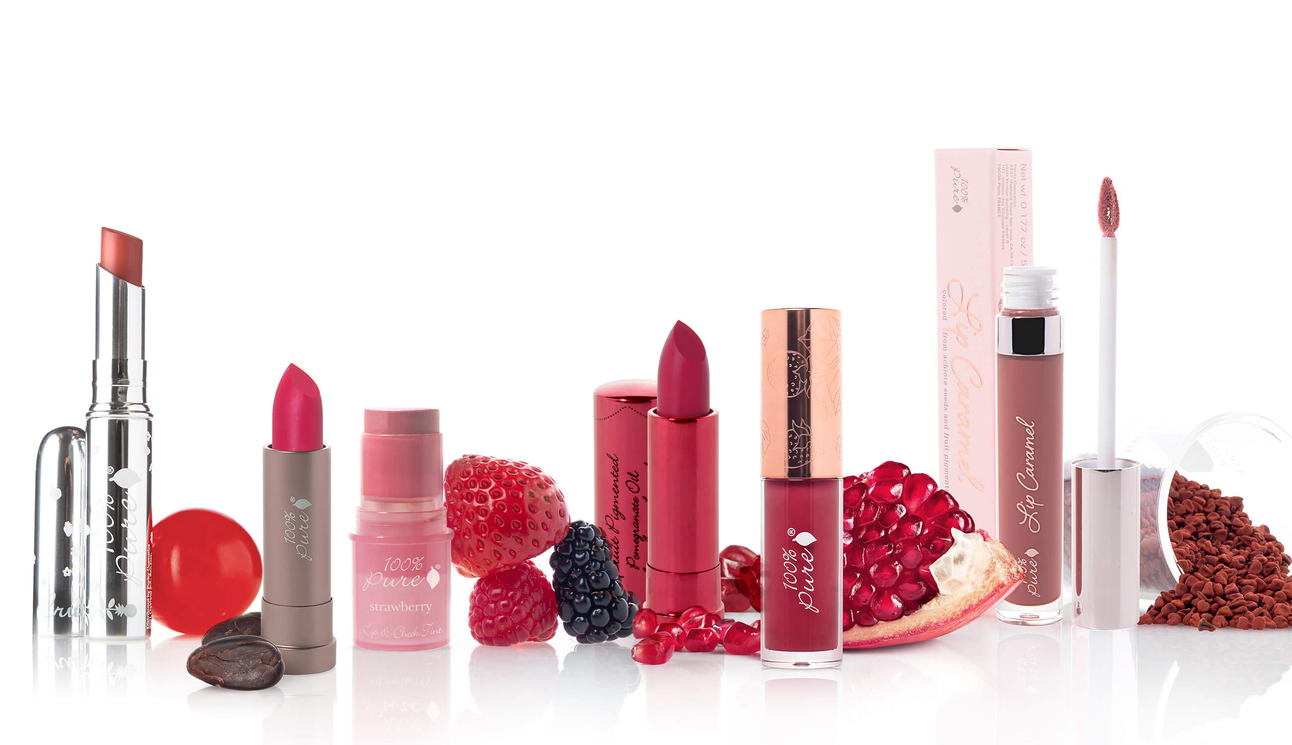 Lipstick image with fruits