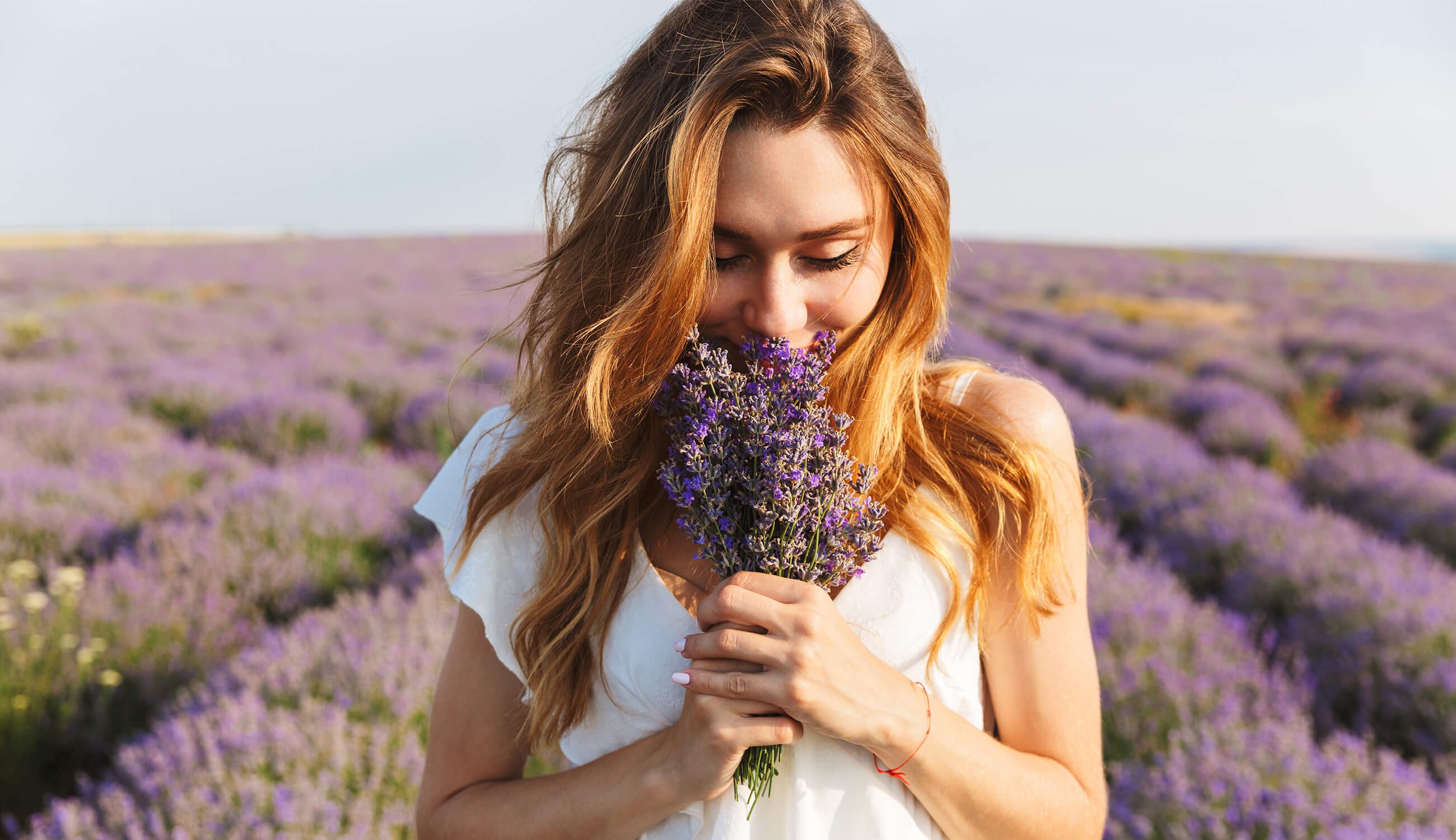Main_young woman holding lavender