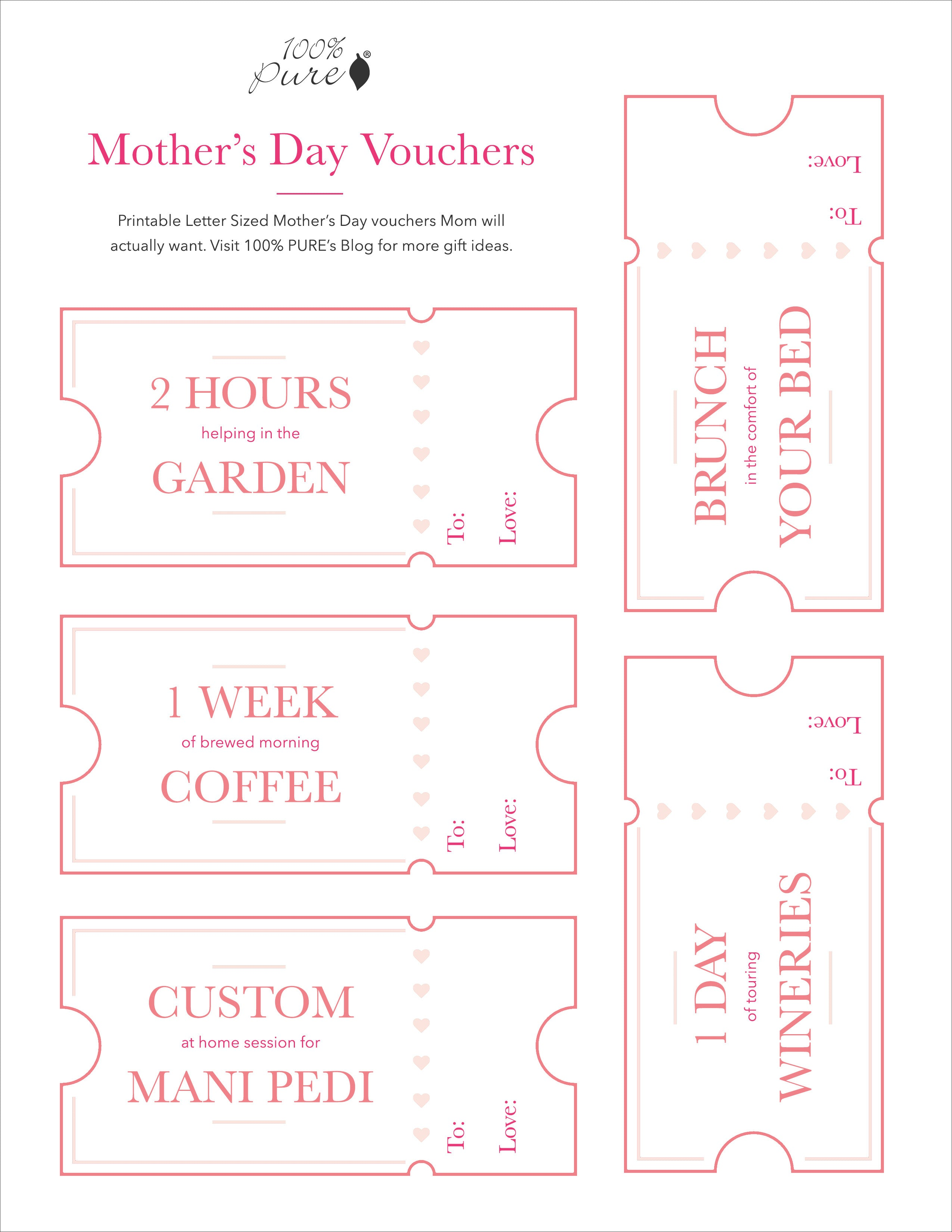 Mothers Day coupon printout