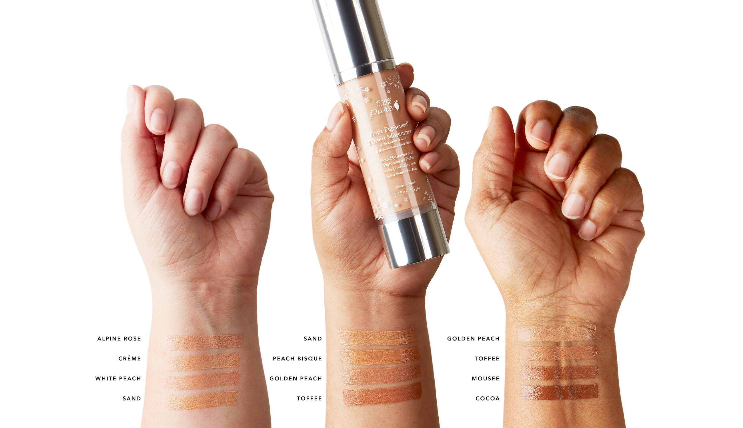 Multiple shade swatches of tinted moisturizer.jpg