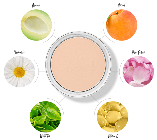 100% PURE Fruit Pigmented Foundation Powder ingredient chart