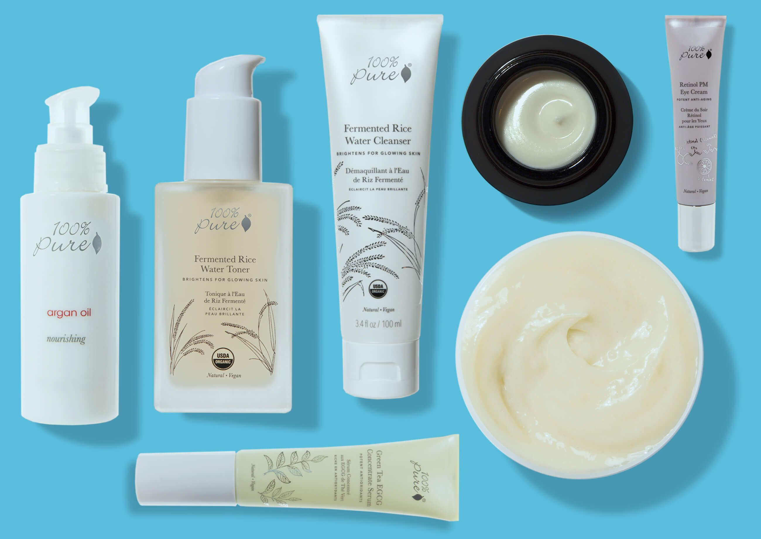 stress free skin products lineup