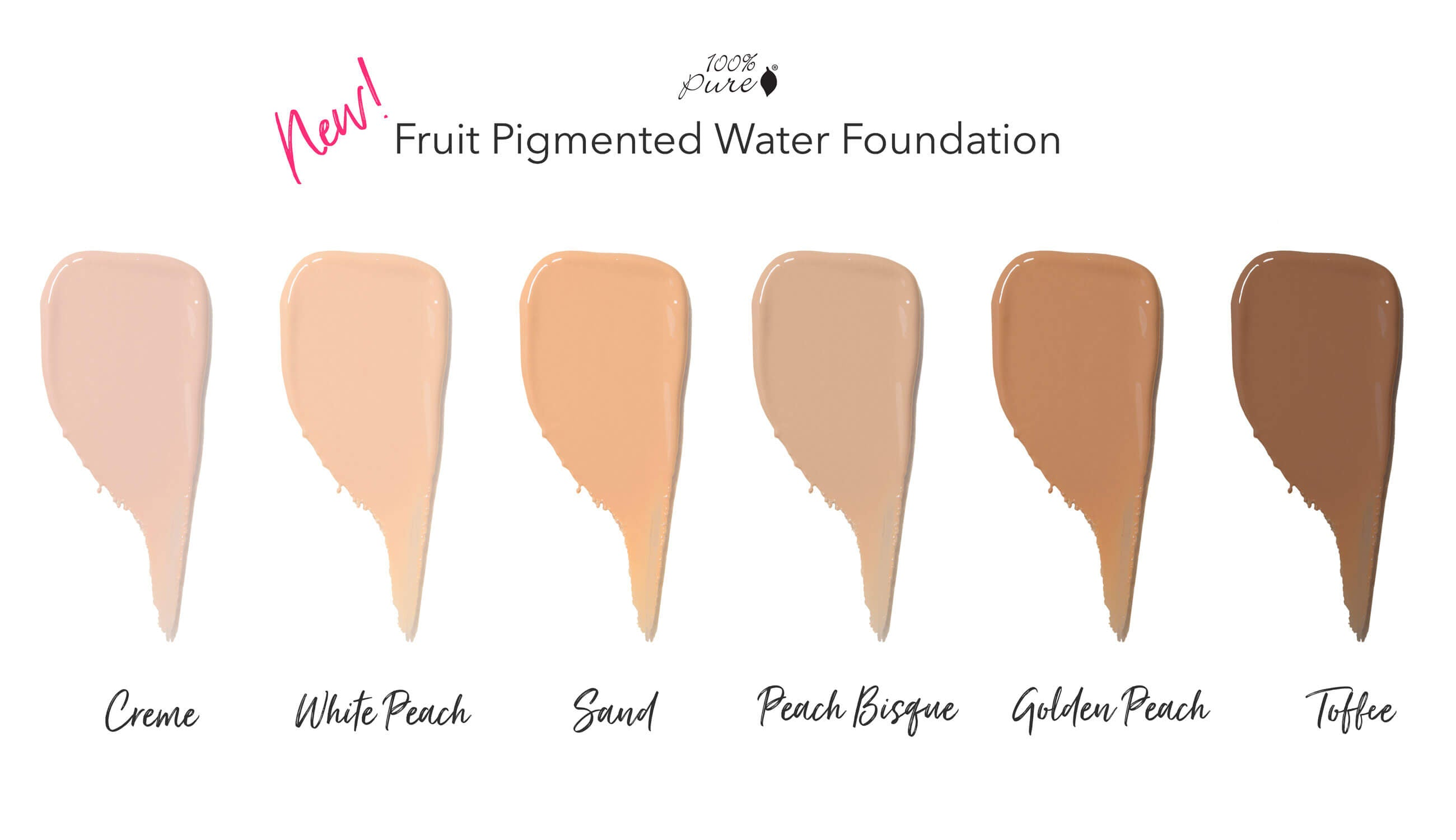 new water foundation swatch charts