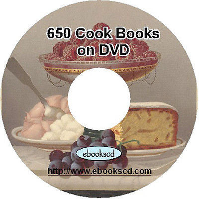 Cooking cookery recipes 650 vintage cook books on DVD collection 1000's recipes