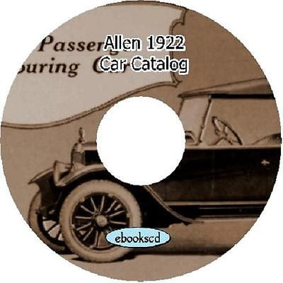ALLEN 1922 vintage car automobile vehicle catalog on CD