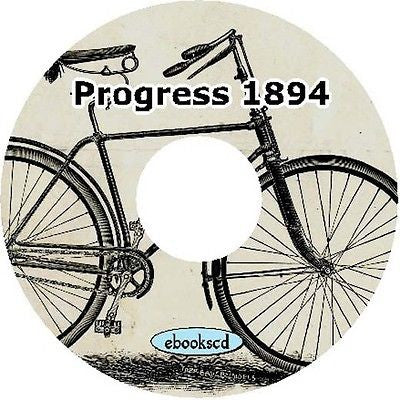Progress 1894 vintage bicycle catalog on CD