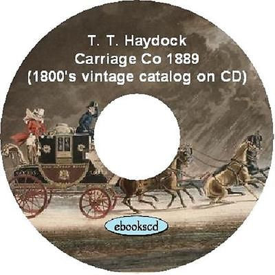 T. T. Haydock Carriage Co 1889 Catalog on CD