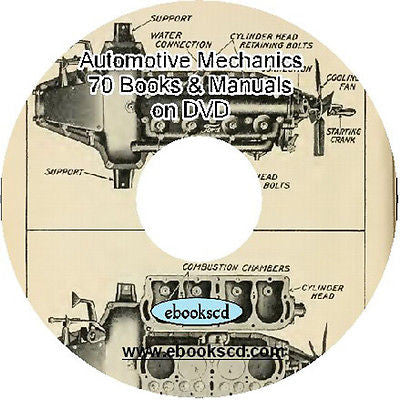 Automotive Mechanic Repair Car Vehicle Engine 70 manuals & books on DVD