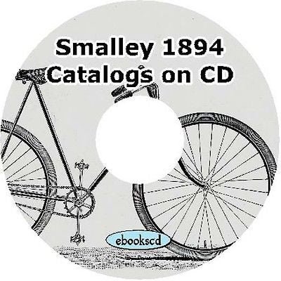SMALLEY 1894 vintage bicycle catalogs on CD