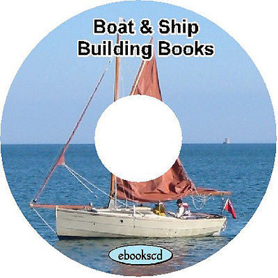 Boat ship building Build boat canoe ship 40 books on CD