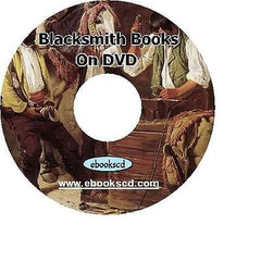 Blacksmith Blacksmithing forge CD iron steel work anvil welding 40 books on DVD
