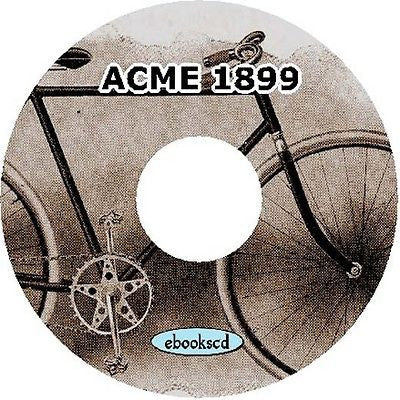 ACME 1899 vintage bicycle catalog on CD