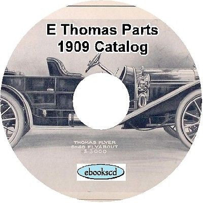E.R THOMAS CO MODEL L 1909 illustrated parts list on CD