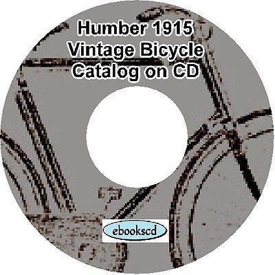 HUMBER 1915 vintage bicycle & motorcycle motor cycle catalog on CD