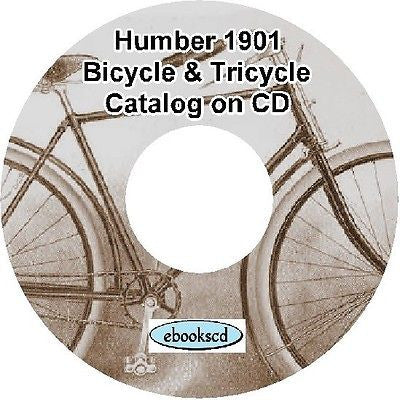 HUMBER 1901 vintage bicycle & tricycle catalog on CD