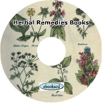 Herbal Remedies Herbs Cures 10 Books on CD