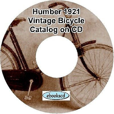 HUMBER 1921 vintage bicycle catalog on CD