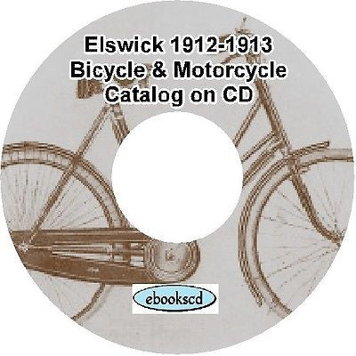 ELSWICK 1912-13 bicycle & parts, motor cycle motorcycle & side car catalog on CD