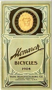 Monarch bicycle catalog: vintage 1904 catalog on CD
