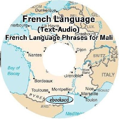 FRENCH for MALI Short Phrases language Audio course on DVD