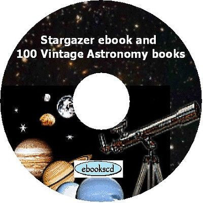 Stargazer & 100 vintage Astronomy books on DVD