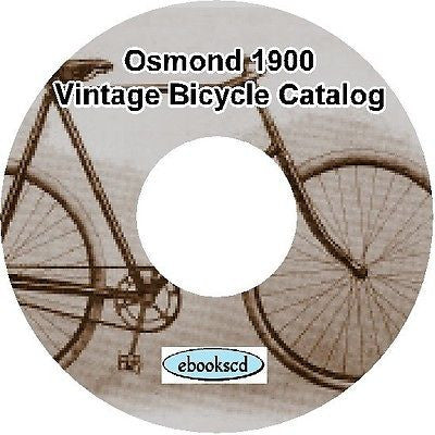 OSMOND 1900 vintage bicycle and tricycle catalog on CD