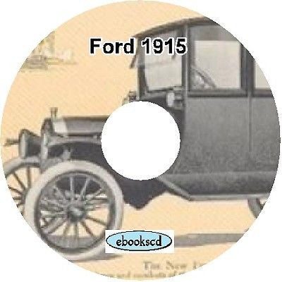 FORD 1915 Ford automobile car catalog on CD