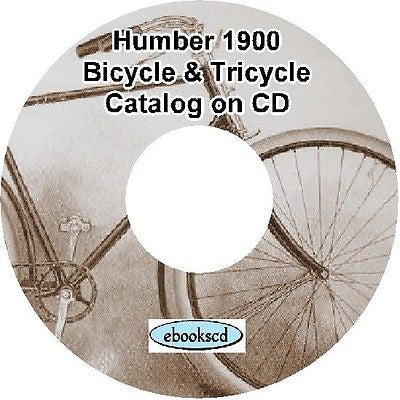 HUMBER 1900 vintage bicycle & tricycle catalog on CD