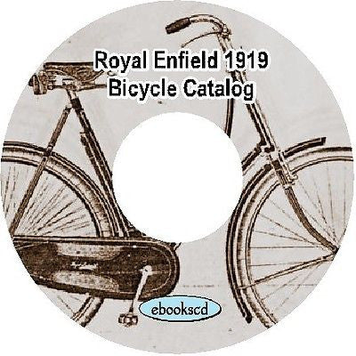Royal Enfield 1919 vintage bicycle catalog on CD