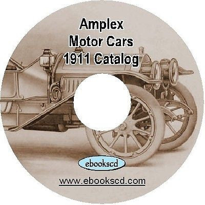 AMPLEX 1911 motor car automobile auto vehicle catalog on CD