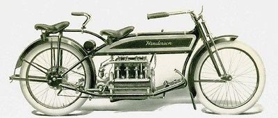 HENDERSON Motorcycle 1913 vintage catalog on CD