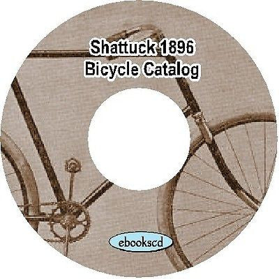 Shattuck 1896 vintage bicycle catalog on CD