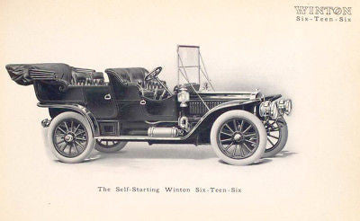 WINTON SIX TEEN SIX MOTOR CAR 1909 catalog on CD