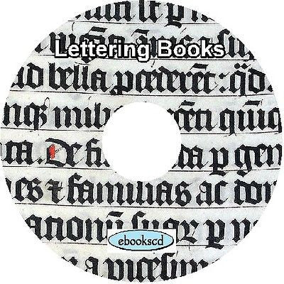Lettering alphabets ciphers monograms 42 books on CD