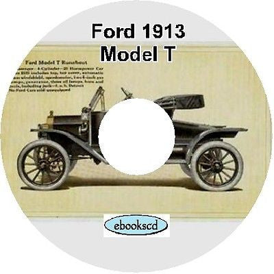 FORD 1913 Ford Model T car automobile catalog on CD