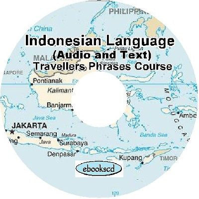 INDONESIAN language Travellers Phrases course Audio + Text on DVD