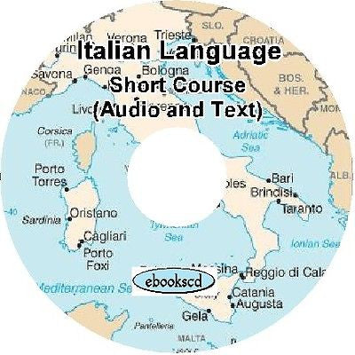 ITALIAN language short beginner and phrases course Audio + Text on DVD